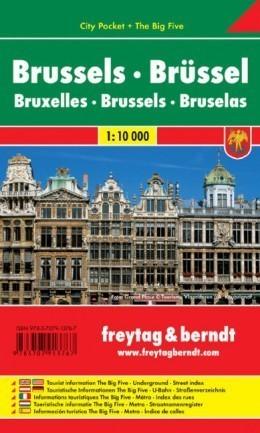 BRUKSELA plan miasta laminowany 1:10 000 FREYTAG & BERNDT