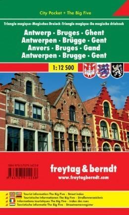 ANTWERPIA - BRUGIA - GANDAWA laminowane plany miast 1:12 500 FREYTAG & BERNDT