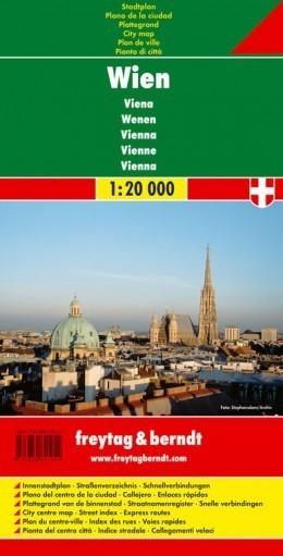 WIEDEŃ plan miasta 1:20 000 FREYTAG & BERNDT