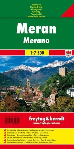 MERANO plan miasta 1:7 500 FREYTAG & BERNDT