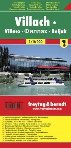 VILLACH plan miasta 1:16 000 FREYTAG & BERNDT
