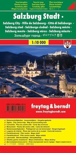 SALZBURG plan miasta 1:10 000 FREYTAG & BERNDT