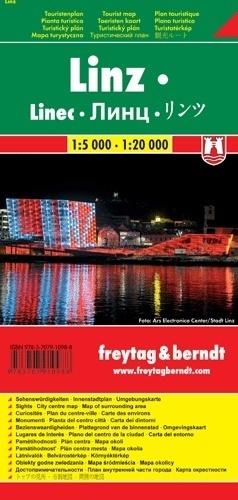 LINZ plan miasta 1:5 000 - 1:20 000 FREYTAG & BERNDT