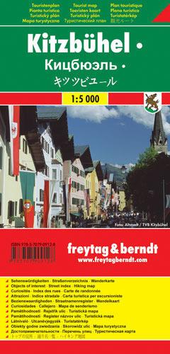 KITZBUHEL plan miasta 1:5 000 FREYTAG & BERNDT