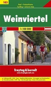 WEINVIERTEL mapa turystyczno-rowerowa 1:100 000 FREYTAG & BERNDT