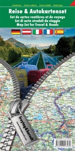 AUSTRIA - NIEMCY- WŁOCHY - FRANCJA - HISZPANIA zestaw map FREYTAG & BERNDT