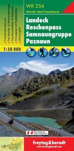 LANDECK - RESCHENPASS - SAMNAUN ALPS - PAZNAUN mapa 1:50 000 FREYTAG & BERNDT