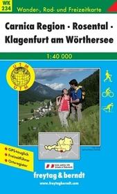 KARYNTIA ROSENTAL KLAGENFURT mapa turystyczna 1:40 000 FREYTAG & BERNDT