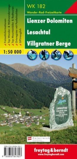 LIENZ DOLOMITY LESACHTAL mapa turystyczna 1:50 000 FREYTAG & BERNDT