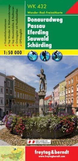DONAURADWEG - PASSAU - EFERDING - SAUWALD mapa turystyczna 1:50 000 FREYTAG & BERNDT