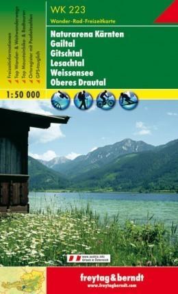 NATURARENA KÄRNTEN - GAILTAL - GITSCHTAL - LESACHTAL mapa turystyczna 1:50 000 FREYTAG & BERNDT