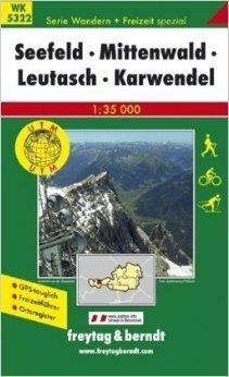 SEEFELD MITTENWALD mapa turystyczna 1:35 000 FREYTAG & BERNDT