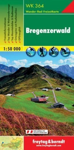BREGENZERWALD mapa turystyczna 1:50 000 FREYTAG & BERNDT