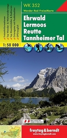 WK352 EHRWALD LERMOOS REUTTE TANNHEIMER TAL mapa turystyczna 1:50 000 FREYTAG & BERNDT