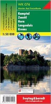 KAMPTAL - ZWETTL - HORN - LANGENLOIS - KREMS mapa turystyczna 1:50 000 FREYTAG & BERNDT