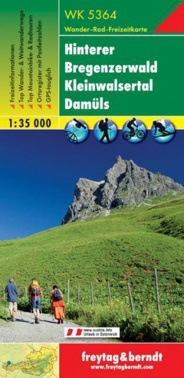 HINTERER BREGENZERWALD mapa turystyczna 1:35 000 FREYTAG & BERNDT
