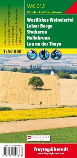WESTLICHES WEINVIERTEL - LEISER BERGE - STOCKERAU mapa turystyczna 1:50 000 FREYTAG & BERNDT