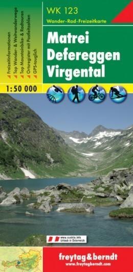 MATREI - DEFEREGGEN - VIRGENTAL mapa turystyczna 1:50 000 FREYTAG & BERNDT