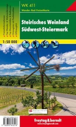 STEIRISCHES WEINLAND - SÜDWEST-STEIERMARK mapa turystyczna 1:50 000 FREYTAG & BERNDT