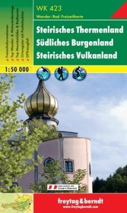 STEIRISCHES THERMENLAND - SUDLICHES BURGENLAND mapa turystyczna 1:50 000 FREYTAG & BERNDT