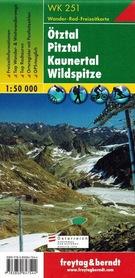 OTZTAL - PITZTAL - KAUNERTAL - WILDSPITZE mapa turystyczna 1:50 000 FREYTAG & BERNDT