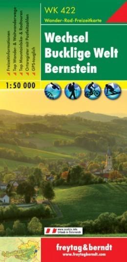 WECHSEL - BUCKLIGE WELT - BERNSTEIN mapa turystyczna 1:50 000 FREYTAG & BERNDT