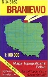 BRANIEWO mapa topograficzno-turystyczna 1:100 000 WZKART