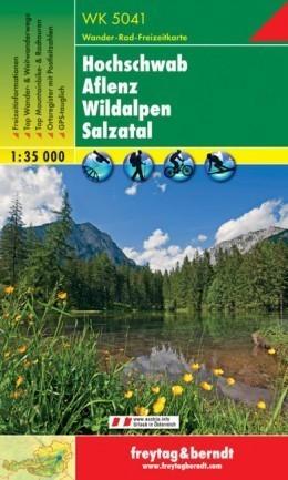 HOCHSCHWAB - AFLENZ - WILDALPEN - SALZATAL mapa turystyczna 1:35 000 FREYTAG & BERNDT