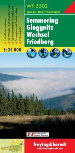 SEMMERING - GLOGGNITZ - WECHSEL - FRIDBERG mapa turystyczna 1:35 000 FREYTAG & BERNDT
