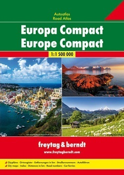 EUROPA KOMPAKT atlas samochodowy 1:1 500 000 FREYTAG & BERNDT