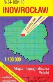 INOWROCŁAW mapa topograficzno-turystyczna 1:100 000 WZKART