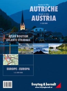 AUSTRIA atlas samochodowy 1:150 000 FREYTAG & BERNDT 2014
