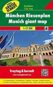 MONACHIUM duży plan miasta na spirali 1:12 500 FREYTAG & BERNDT