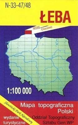 ŁEBA mapa topograficzno-turystyczna 1:100 000 WZKART