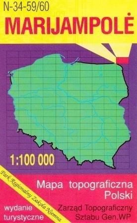 MARIJAMPOLE mapa topograficzno-turystyczna 1:100 000 WZKART
