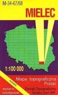 MIELEC mapa topograficzno-turystyczna 1:100 000 WZKART