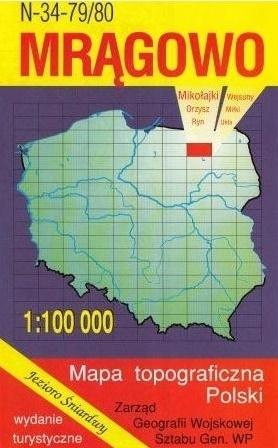 MRĄGOWO mapa topograficzno-turystyczna 1:100 000 WZKART 2015