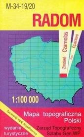 RADOM mapa topograficzno-turystyczna 1:100 000 WZKART