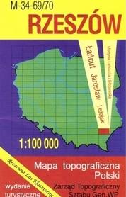 RZESZÓW mapa topograficzno-turystyczna 1:100 000 WZKART