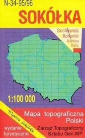 SOKÓŁKA mapa topograficzno-turystyczna 1:100 000 WZKART