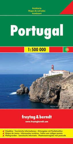 PORTUGALIA mapa 1:500 000 FREYTAG & BERNDT