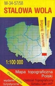 STALOWA WOLA mapa topograficzno-turystyczna 1:100 000 WZKART 2016r !!