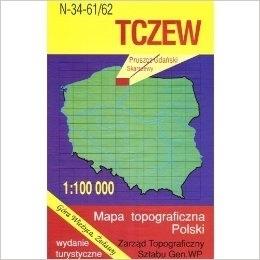 TCZEW mapa topograficzno-turystyczna 1:100 000 WZKART 2016 !!