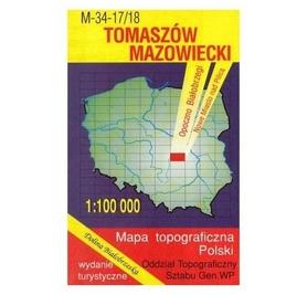 TOMASZÓW MAZOWIECKI mapa topograficzno-turystyczna 1:100 000 WZKART