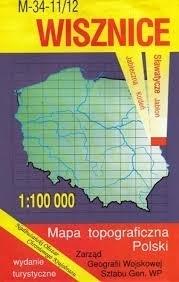 WISZNICE mapa topograficzno-turystyczna 1:100 000 WZKART
