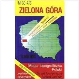 ZIELONA GÓRA mapa topograficzno-turystyczna 1:100 000 WZKART
