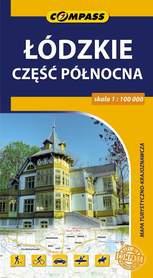 ŁÓDZKIE CZĘŚĆ PÓŁNOCNA mapa turystyczna 1:100 000 COMPASS