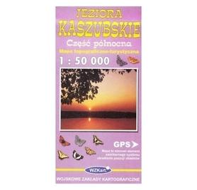 JEZIORA KASZUBSKIE mapa topograficzno-turystyczna 1:50 000 cz.płn. GPS WZKART