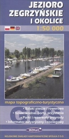 JEZIORO ZEGRZYŃSKIE I OKOLICE mapa topograficzno-turystyczna 1:50 000 GPS WZKART