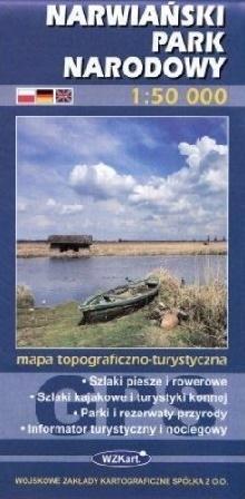 NARWIAŃSKI PARK NARODOWY mapa topograficzno-turystyczna 1: 50 000 GPS WZKART
